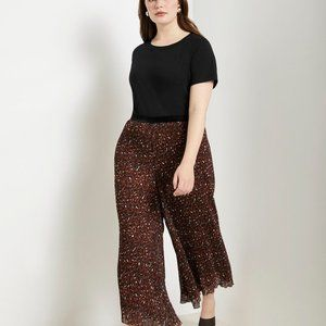 Pleated Leopard Pant NWT